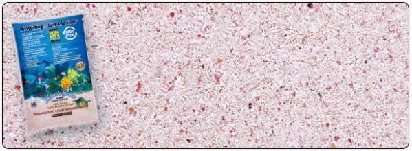 Živý piesok LIVE SAND Samoa pink - veľmi jemný aragonit 0,5-1,7mm - 9,07kg