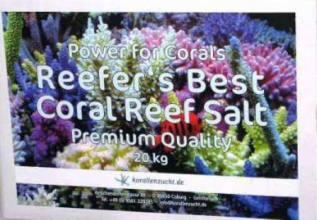 Korallen-Zucht Reefers Best Coral Reef Salt 20kg.