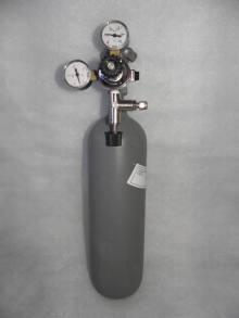 CO2 systém MC (flaša 2.1L s redukčným ventilom - 2 manometrami + ihlový ventil)